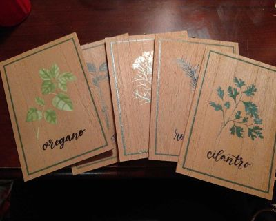 Set of 5 Herb Pictures