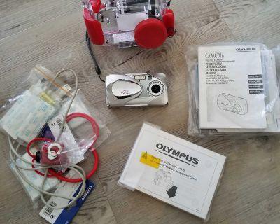 Olympus digital camera with underwater case