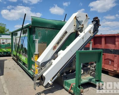 Roll-Off Container w/ IMT 14/98 Series Knuckle Boom Crane