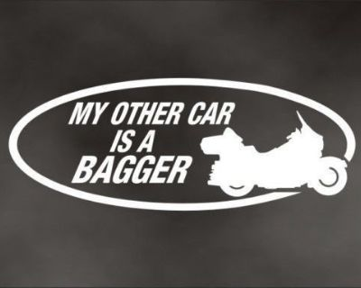 My Other Car Is A Bagger Decal For Touring Flh Bike Motorcycle Bumper Sticker