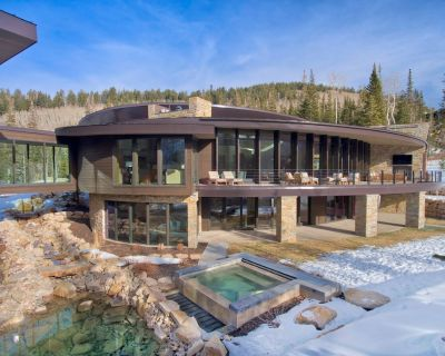 The Private Contemporary Estate, Iron Mountain Chalet is Above Canyons Village with Ski Access and 3 - Park City