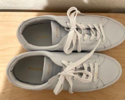 Pedro Atlas Court Sneakers (White), size US 8/EUR 40