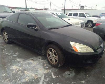 Salvage Black 2007 Honda Accord Cpe