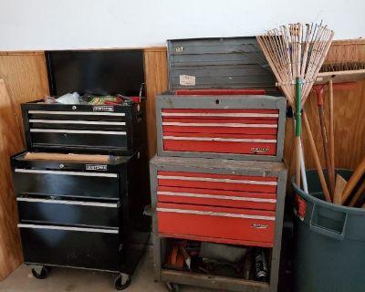 Sale - Yukon /Mustang, yard equip, furniture, washer/dryer