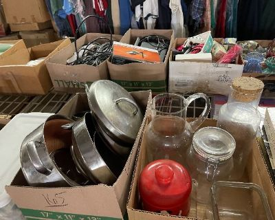 Tools, tools, suit case, yard tools, kitchenware and more!