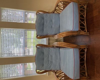 Two Henry Link Rattan Chairs