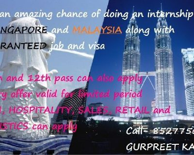 Paid Internship In Singapore leading to PR opportunities