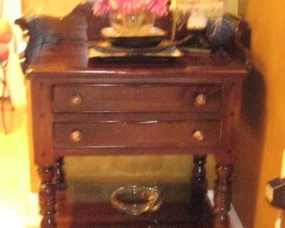 Antique Night Stand Entrance Table Side Table w/ Drawers