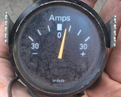 Vintage vdo amp gauge dated 9/73?