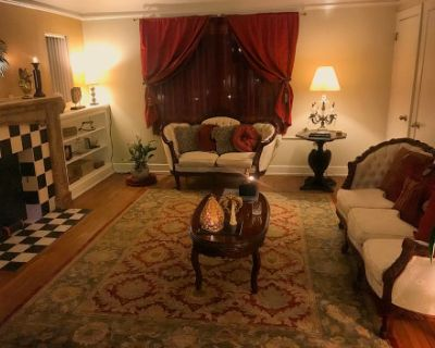 Vintage original house from 1940, in West Hollywood, french furniture and White Grand Piano., Los Angeles, CA