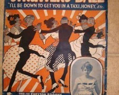 THE DARKTOWN STRUTTER'S BALL ~ Rare Sheet Music !