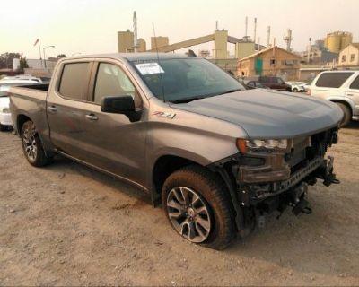 Salvage Gray 2021 Chevrolet Silverado 1500