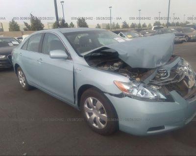 Salvage Light Blue 2009 Toyota Camry Hybrid
