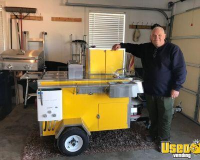 2021 Doghouse Carts 4.5' x 4.5' Hot Dog Food Vending Concession Cart