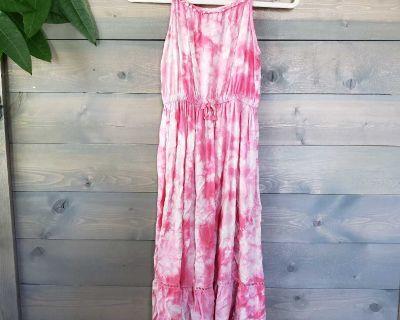 Cat & Jack Girls Pink Tie Dye Maxi Dress Size L (10-12)