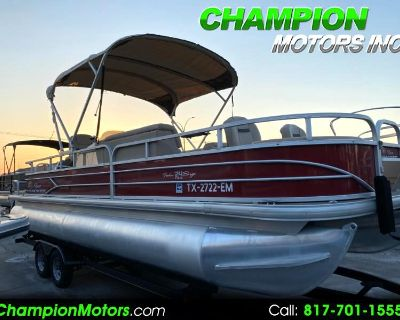 Used 2019 Sun Tracker Fishin Barge 24 DLX Pontoon Boat w/Mercury 150HP 4 Stroke