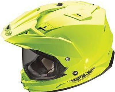 New Fly Racing Trekker Dual Sport Motorcycle Hi-vis Yellow Helmet Size: Md-2xl