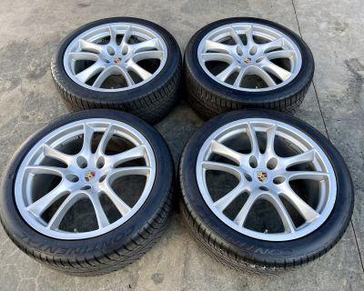 21 Cayenne Sport / GTS Wheel, Tires, TPMS Set