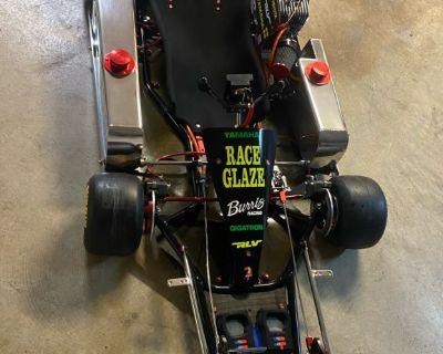 Restored vintage Emmick Enduro race kart