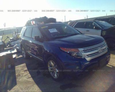 Salvage Dark Blue 2013 Ford Explorer