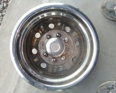 Stainless Steel hub cap for Dually