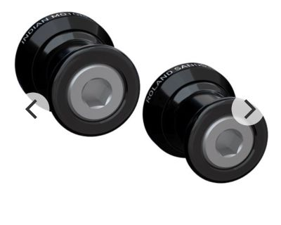 FTR tank Covers and Roland Sands Swing Arm Spools