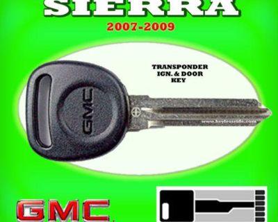 07 08 09 Gmc Sierra Transponder Chip Ignition Key Blank