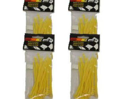 "100 - Mr Gasket 4"" Nylon Plastic Zip Tie Wraps Tie-wraps Straps Reusable -yellow"