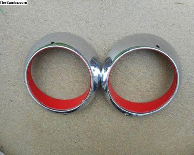 Porsche Headlight Trim Rings