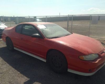 Salvage Red 2001 Chevrolet Monte Carlo