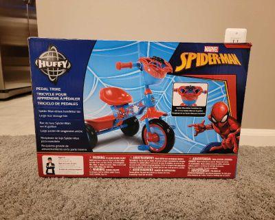 New Huffy Spiderman Pedal Trike