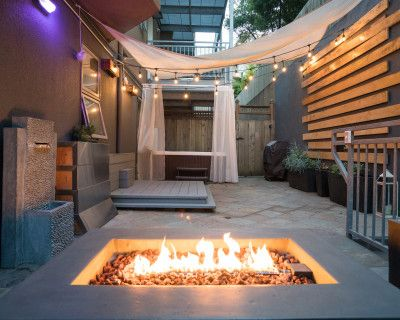 Private Patio Equipped w/a Hot tub, Fire pit, Lounge + Modern indoor Space + Parking - Upper Market St!, San Francisco, CA