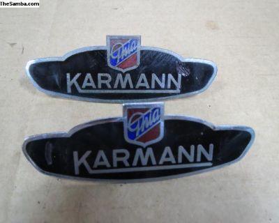 Karmann Ghia Badges