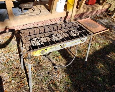 Camp Chef 3 Burner Stove with Grill Box