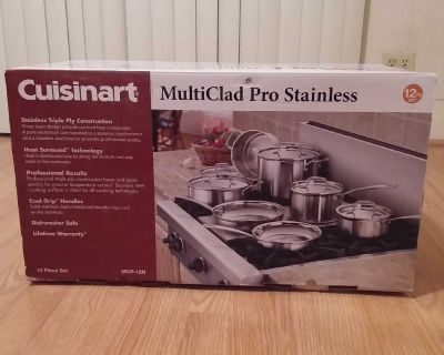 CUISINART MULTICLAD PRO STAINLESS STEEL COOKWARE SET - 12 PIECE - MCP-12N