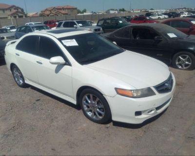 Salvage White 2006 Acura Tsx