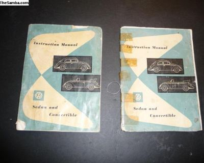 August 1955 Bug Owners manuals