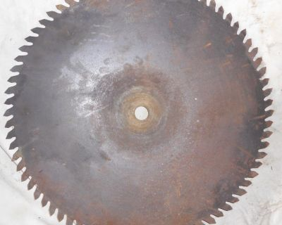 Large antique sawmill/buzz saw blade