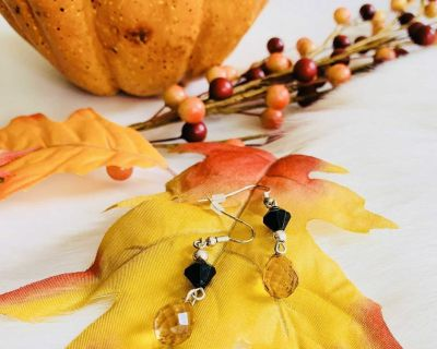 Brand New Halloween Gemstone Dangle Earrings