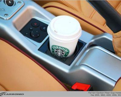 Carbonio Ferrari 360 430 456 550 355 Carbon Fiber Cup Holder Ashtray