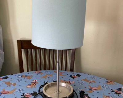 Tabletop Lamp with built in outlet