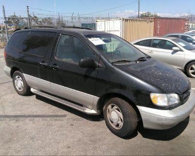 Salvage Black 2000 Toyota Sienna