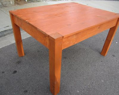 """Table, rustic, wooden, pine wood. 52"""" Long x 41"""" wide x 31"""" tall."""