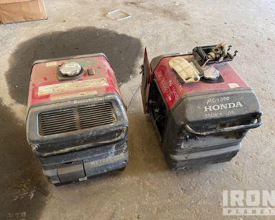 Lot of (2) Honda EU3000 Gen Sets