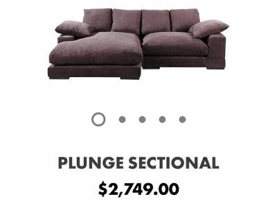 Moe s Plunge Sectional sofa