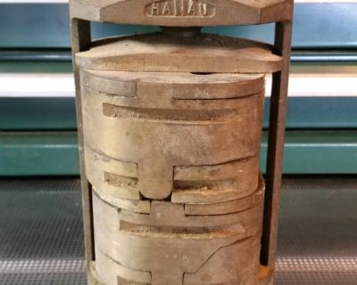 Hanau Buffalo Dental Impression Mold Brass Block Varsity Upper Lower Vise Press