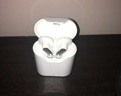 Bluetooth Earbuds White Rechargeable