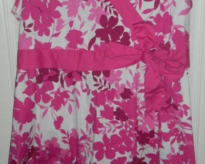 Girls 14 1/2 Plus Size Speechless Pink & White Floral Dress