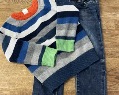 Gap warm sweater and jeans
