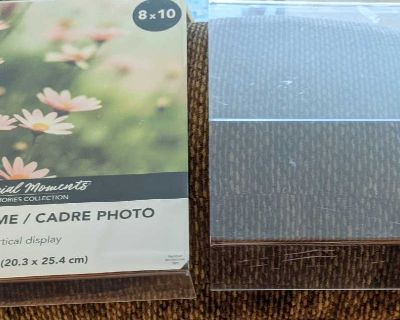 Two 8x10 acrylic picture frames